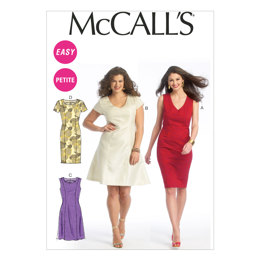 McCall's Misses'/Miss Petite/Women's/Women's Petite Dresses M6920 - Sewing Pattern