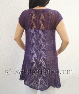 #141 Whispering Leaves Lace Top-Down Cardigan