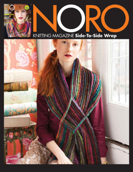 Side-To-Side Wrap in Noro Silk Garden Sock - 35 - Downloadable PDF