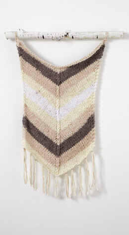 Chevron Fringe Wall Hanging in Premier Yarns Home Cotton Solids - HCSC001 - Downloadable PDF