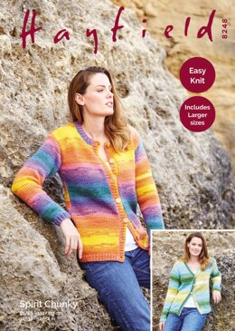 Cardigans in Hayfield Spirit Chunky - 8248 - Downloadable PDF