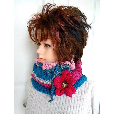 878- Pixie Cowl and Flower