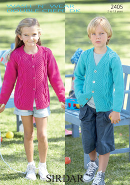 Cardigans in Sirdar Wash 'n' Wear Double Crepe DK - 2405