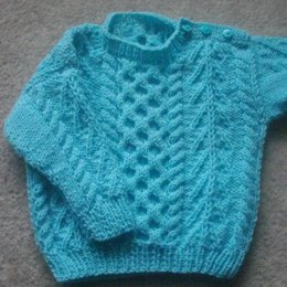 Gavin baby and toddler aran sweater