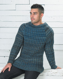 Rib Sweater in Wendy Festival Chunky - 5734