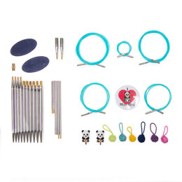 "HiyaHiya Steel Interchangeable Needle Ultimate Knitting Gift Sets - 12cm (5"") - Medium"