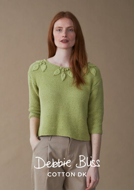 Chelsea Sweater in Debbie Bliss Cotton DK - DB243 - Downloadable PDF