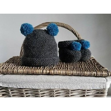 Beginners Easy Pdf Knitting Pattern New Baby Hat And Boots
