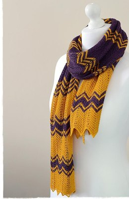 Purple Gold Scarf