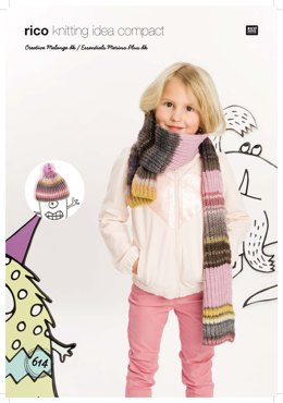 Hat and Scarf in Rico Creative Melange DK and Essentials Merino Plus DK - 614 - Downloadable PDF