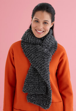 Beginner One Ball Scarf in Lion Brand Homespun Thick & Quick - L20058C