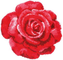 Vervaco Rose Shaped Latch Hook Rug Kit