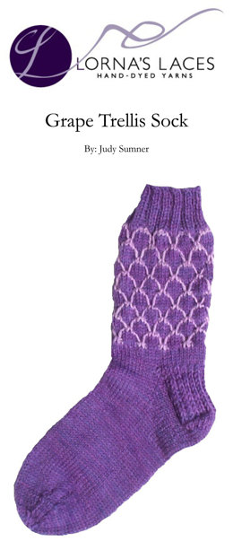 Grape Trellis Sock in Lorna's Laces Shepherd Sport