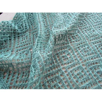 Lozenge Lace Wrap and Scarf