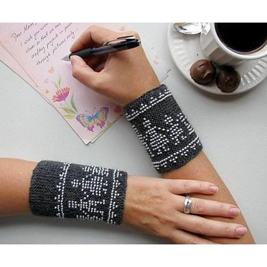 Beaded Family Wrist Warmers