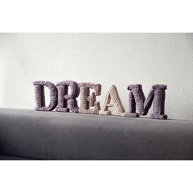 DREAM 3D Letters Crochet Patter