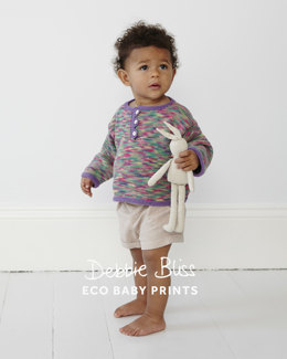 Triangle Edged Top in Debbie Bliss Eco Baby and Eco Baby Prints - Downloadable PDF