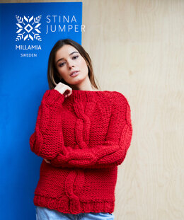 Stina Sweater - Sweater Knitting Pattern For Women in MillaMia Naturally Soft Super Chunky