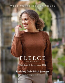Braidley Cob Stitch Jumper in West Yorkshire Spinners Bluefaced Leicester DK - DBP0174 - Downloadable PDF