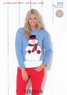 Snowman Sweater in Sirdar Country Style DK - 9723 - Downloadable PDF