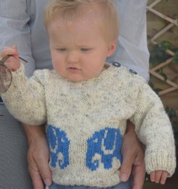 Aran Baby Elephant Sweater and Hat