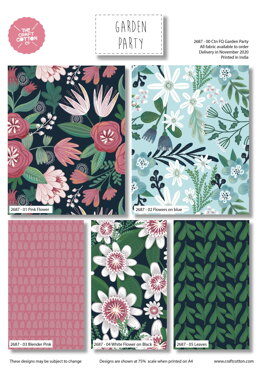 Craft Cotton Company Garden Party Fat Quarter Bundle