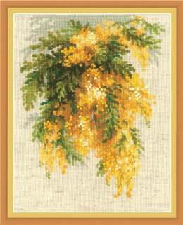 Riolis Mimosa Cross Stitch Kit - 18cm x 24cm