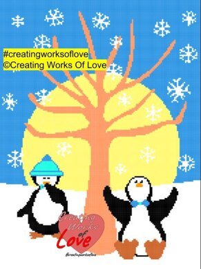 Penguins In The Snow Stitch Graph