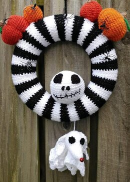 Nightmare Before Christmas Style Wreath