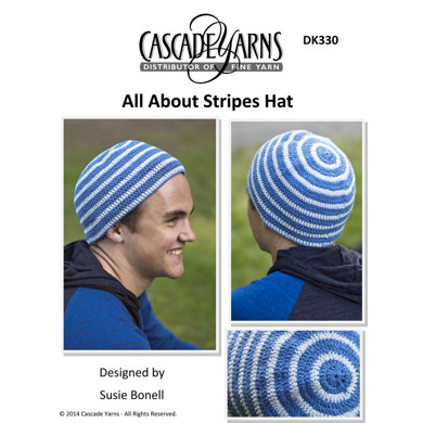 All About Stripes Hat In Cascade Fixation Dk330 Crochet Patterns