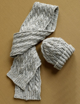 Herdwick Dell Hat and Scarf in Lion Brand Vanna's Choice - 90275AD