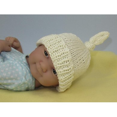 Just For Preemies - Premature Baby Topknot Beanie and Booties Set