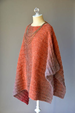 Banked Coals Poncho in Universal Yarn Revolutions - Downloadable PDF