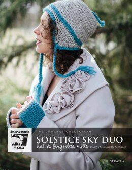Solstice Sky Duo Hat & Fingerless Mitts in Juniper Moon Farm Stratus - J46-02 - Downloadable PDF