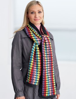 Multi-Colored Scarf in Patons Classic Wool Worsted