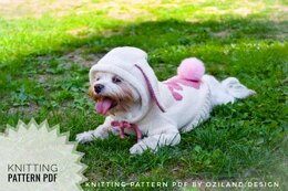 Easter bunny hoodie for dog