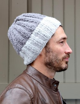 Two Tone Hat in Plymouth Yarn Arequipa Boucle - F804 - Downloadable PDF
