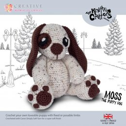 Creative World of Crafts Knitty Critters The Puppy Dog - 28cm