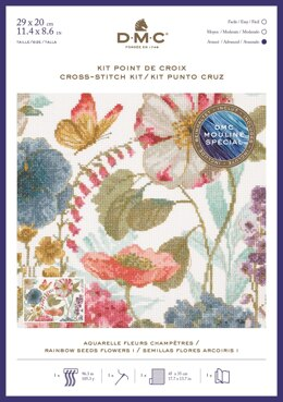 DMC Rainbow Seeds Flowers I Cross Stitch Kit