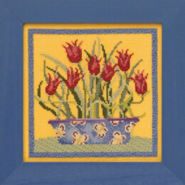 Mill Hill Blooms and Blossoms - Tulips - 7in x 7in