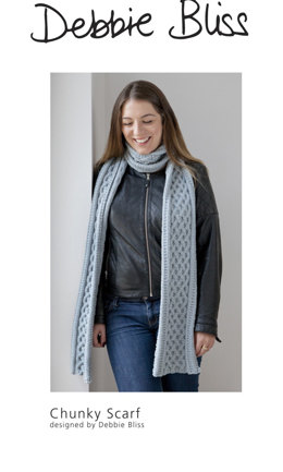 """""""Chunky Scarf"""" - Scarf Knitting Pattern For Women in Debbie Bliss Rialto Chunky"""