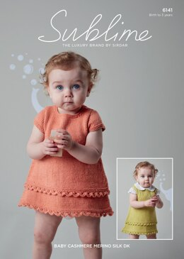 Dress and Pinafore in Sublime Baby Cashmere Merino Silk DK - 6141 - Downloadable PDF