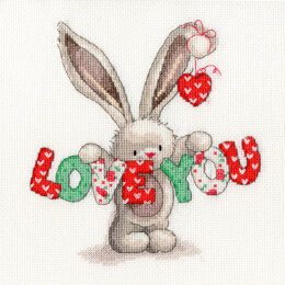 Bothy Threads Love You  Cross Stitch Kit - 20cm x 20cm