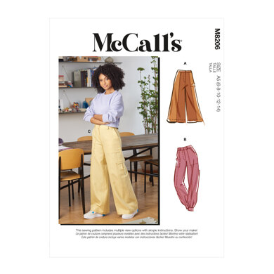 McCall's Misses' Pants M8206 - Sewing Pattern