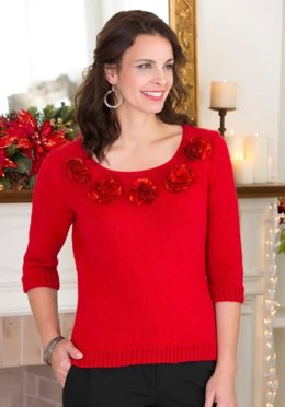 Party Sweater in Red Heart Boutique Ribbons - LW3183
