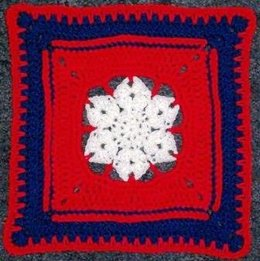 "Patriot Star - 12"" Square"