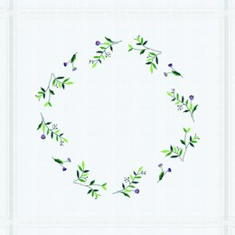 Permin Violets Embroidery Tablecloth Kit - Multi