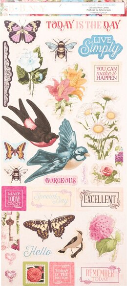 "American Crafts Time & Place Cardstock Stickers 6""X12"" - 605443"