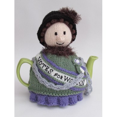 Suffragette Tea Cosy Knitting pattern by TeaCosyFolk