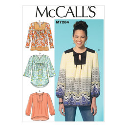 McCall's Misses' Tops M7284 - Sewing Pattern